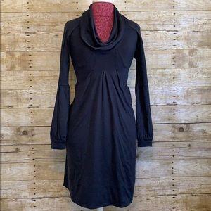 Diane Von Furstenberg Gray Sweater Dress Cowl Sz 0